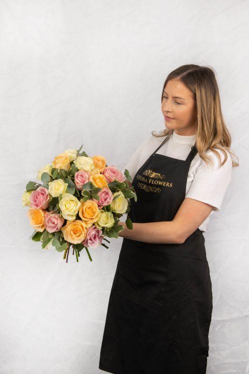 Roses, Hatbox flowers, Luxury flowers